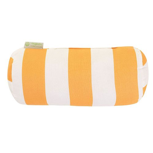 Majestic Home Goods Striped Indoor Outdoor Decorative Bolster Pillow
