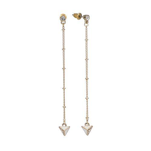 LC Lauren Conrad Triangle Linear Drop Earrings