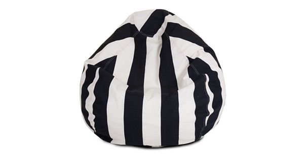 Majestic Home Goods Striped Indoor Outdoor Small Beanbag Chair