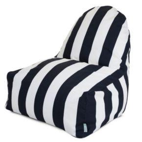 Majestic Home Goods Striped Indoor Outdoor Kick-It Chair