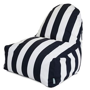 Majestic Home Goods Striped Indoor Outdoor Kick It Chair