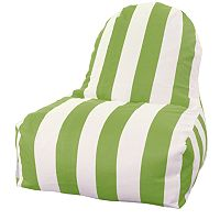Majestic Home Goods Striped Indoor Outdoor Kick-It Chair