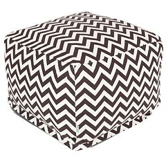 Majestic Home Goods Chevron Indoor Outdoor Large Ottoman