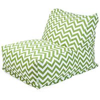 Majestic Home Goods Chevron Indoor Outdoor Beanbag Chair Lounger