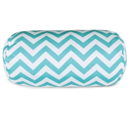 Majestic Home Goods Chevron Indoor Outdoor Bolster Pillow