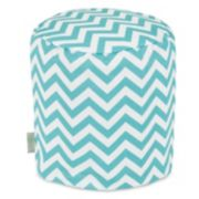 Majestic Home Goods Chevron Indoor Outdoor Small Pouf Ottoman