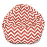 Majestic Home Goods Chevron Indoor Outdoor Small Beanbag Chair
