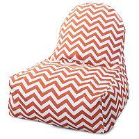 Majestic Home Goods Chevron Indoor Outdoor Kick-It Chair
