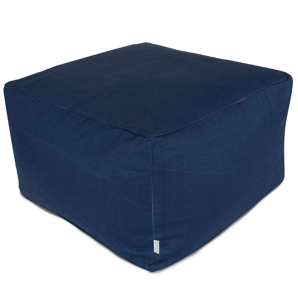 Majestic Home Goods Indoor Outdoor Navy Blue Large Ottoman