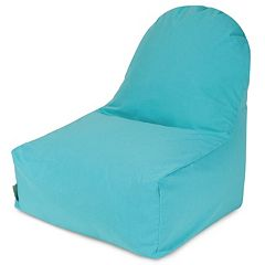 Majestic Home Goods Solid Indoor Outdoor Kick It Bean Bag Chair