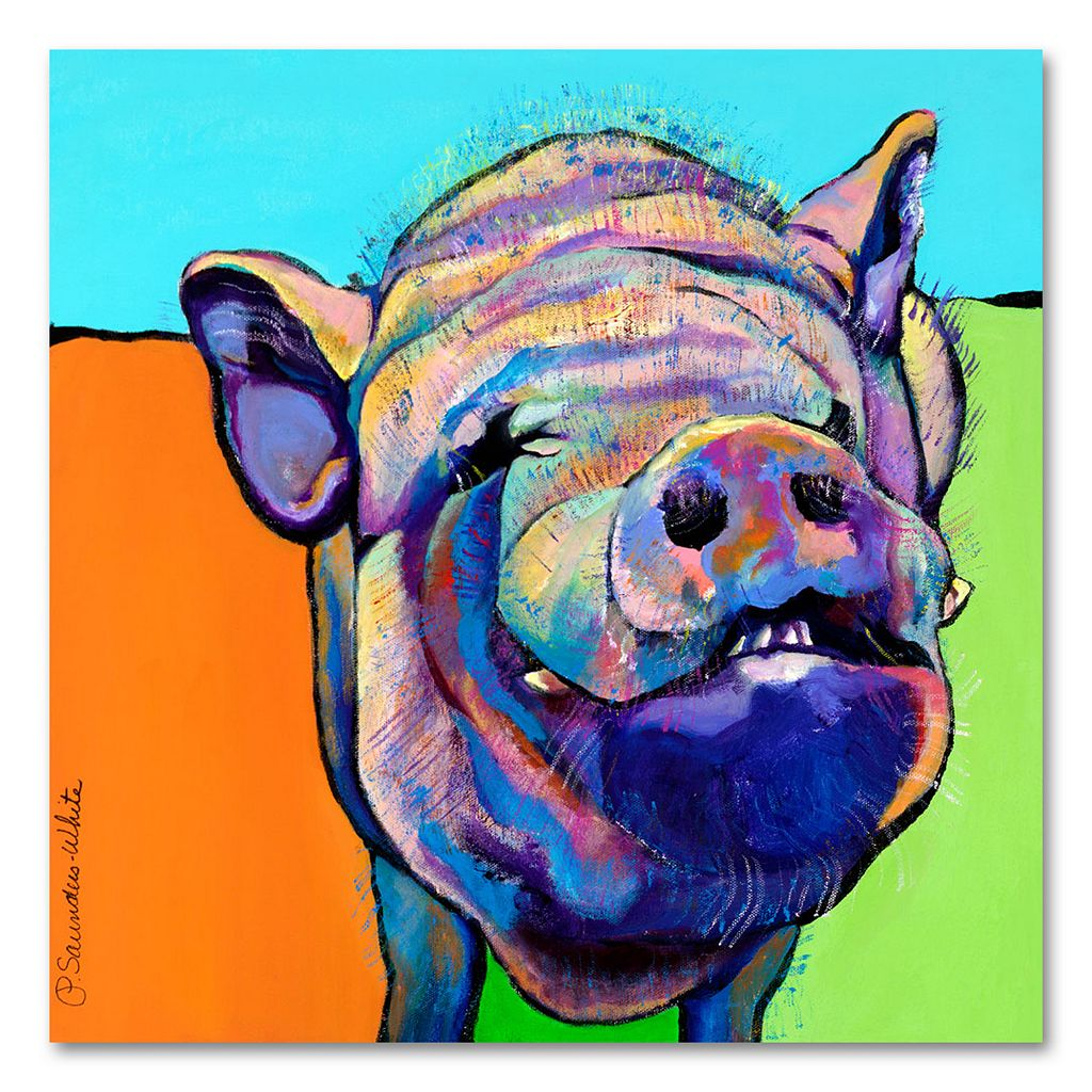 35'' x 35'' ''Grunt'' Canvas Wall Art by Pat Saunders-White