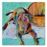 24'' x 18'' ''Basket Retriver'' Canvas Wall Art by Pat Saunders-White