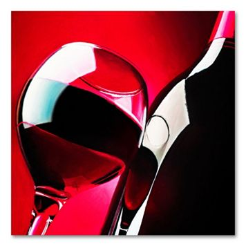 18'' x 18'' ''Red Wine'' Canvas Wall Art by Roderick Stevens