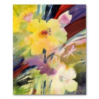 24'' x 18'' ''Dragonfly Garden Dream'' Canvas Wall Art by Sheila Golden