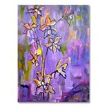 47'' x 35'' ''Purple Orchids'' Canvas Wall Art by Wendra