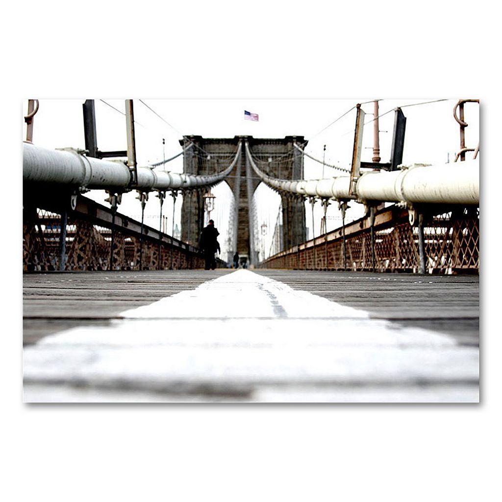 30'' x 47'' ''Brooklyn Bridge'' Canvas Wall Art by Yale Gurney