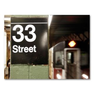 14'' x 19'' ''33 Street'' Canvas Wall Art by Yale Gurney