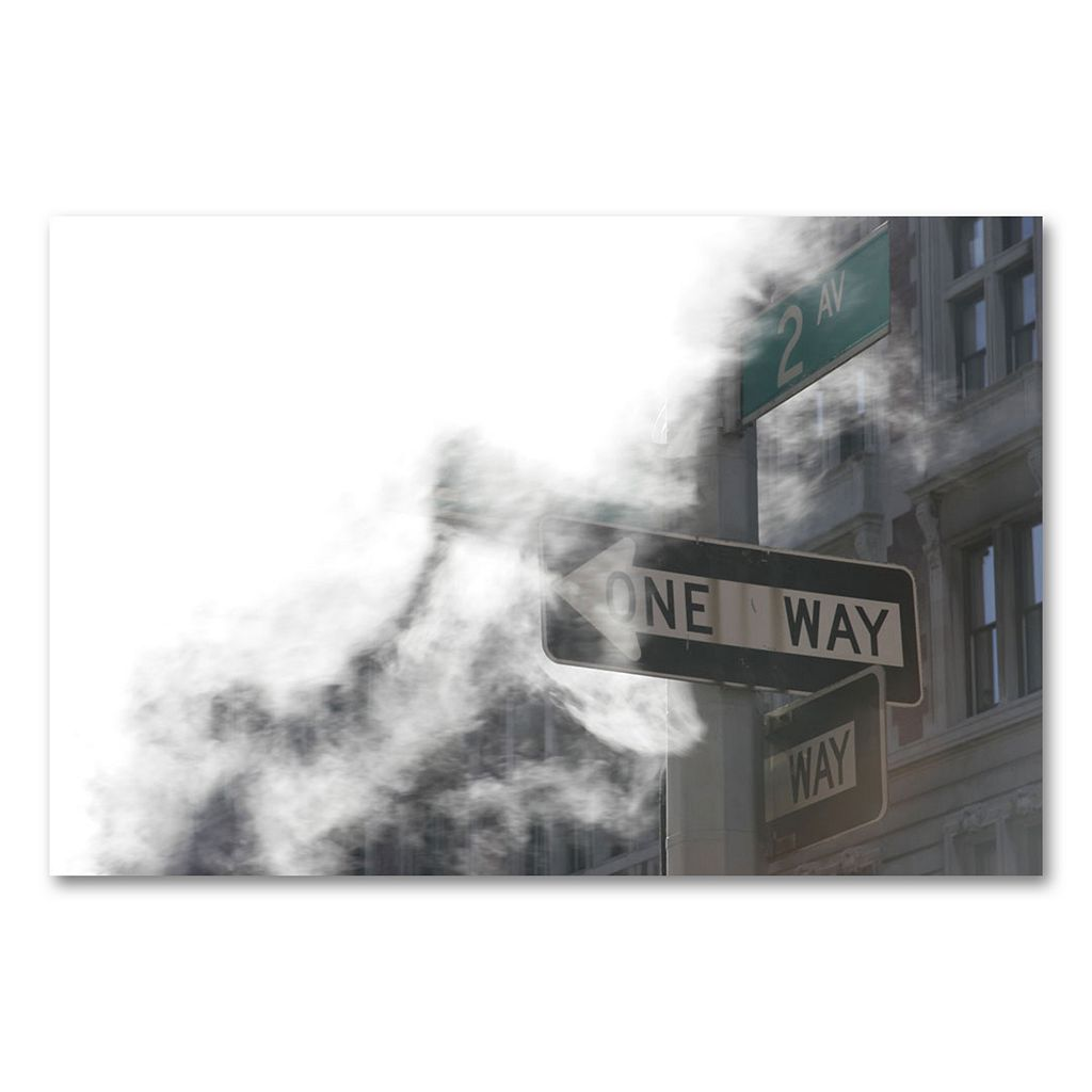 14'' x 19'' ''One Way'' Canvas Wall Art by Yale Gurney