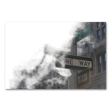 18'' x 24'' ''One Way'' Canvas Wall Art by Yale Gurney