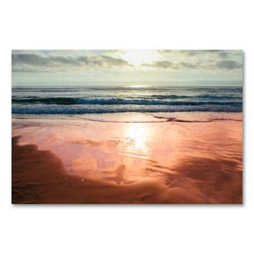 35'' x 47'' ''Coastal Reflections IV'' Canvas Wall Art by Ariane Moshayedi
