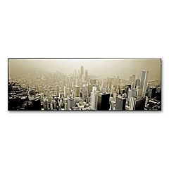 'Chicago Skyline' 12' x 32' Canvas Wall Art by Preston
