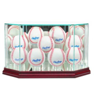 Perfect Cases 9-Baseball Octagonal Display Case - Cherry Finish