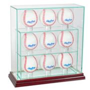 Perfect Cases 9-Baseball Upright Display Case - Cherry Finish