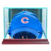 Perfect Cases Cap and Hat Display Case - Cherry Finish