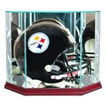 Perfect Cases Octagonal Full-Size Football Helmet Display Case - Cherry Finish