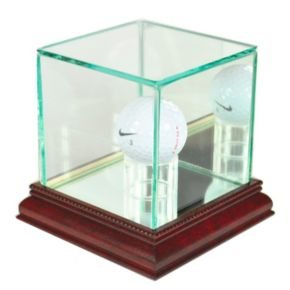 Perfect Cases Golf Ball Display Case - Cherry Finish