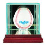 Perfect Cases Single Baseball Display Case - Cherry Finish