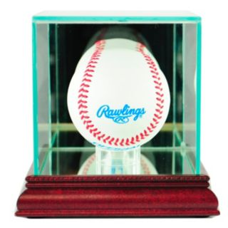 Perfect Cases Single Baseball Display Case - Cherry Finish