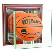 Perfect Cases Wall-Mounted Basketball Display Case - Cherry Finish