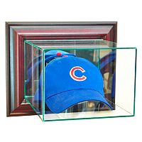Perfect Cases Wall-Mounted Cap and Hat Display Case - Cherry Finish