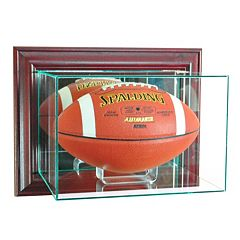 Perfect Cases Wall-Mounted Football Display Case - Cherry Finish