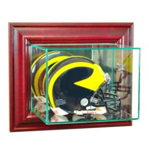 Perfect Cases Wall-Mounted Mini Helmet Display Case - Cherry Finish