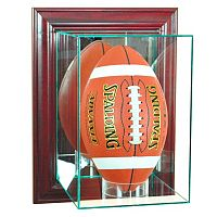 Perfect Cases Wall-Mounted Upright Football - Cherry Finish