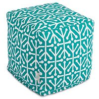 Majestic Home Goods Aruba Indoor Outdoor Small Cube Ottoman
