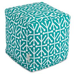 Majestic Home Goods Aruba Indoor Outdoor Small Cube Ottoman