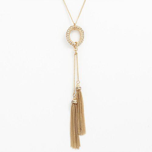 LC Lauren Conrad Lariat Fringe Necklace