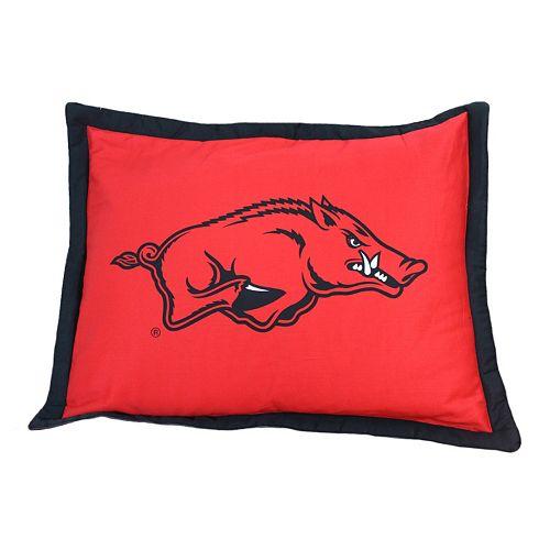 College Covers Arkansas Razorbacks Printed Pillow Sham