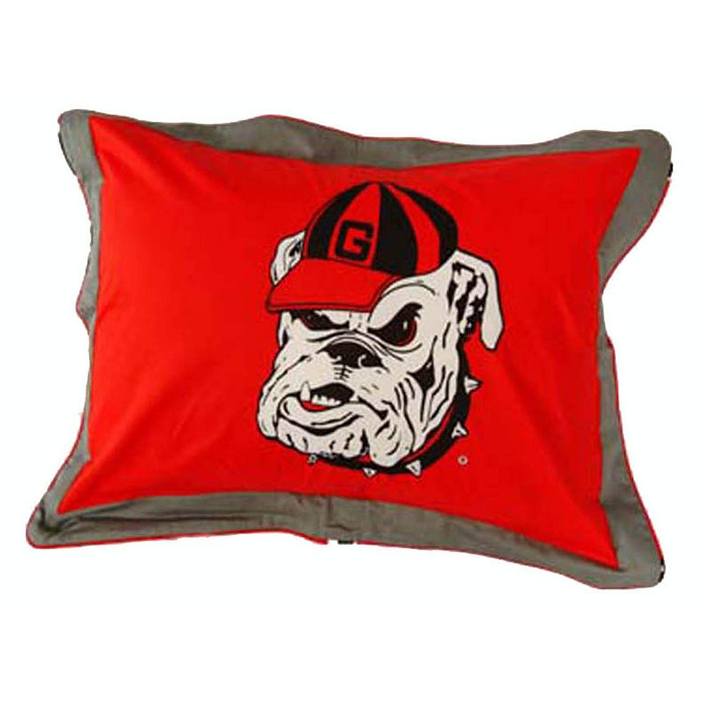 College Covers Georgia Bulldogs Printed Pillow Sham