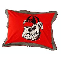 College Covers Georgia Bulldogs Printed Pillow Sham