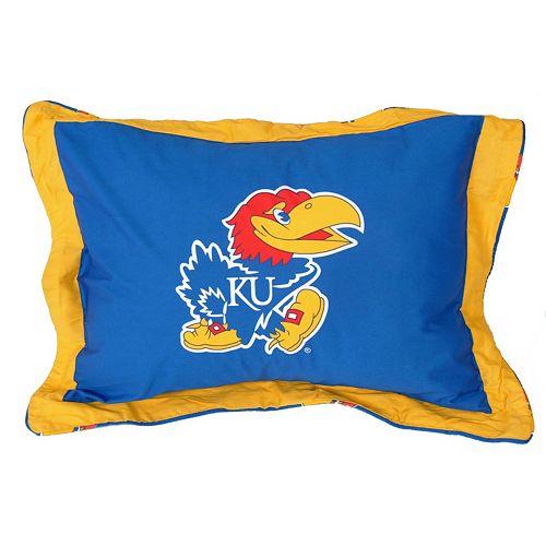 College Covers Kansas Jayhawks Printed Pillow Sham