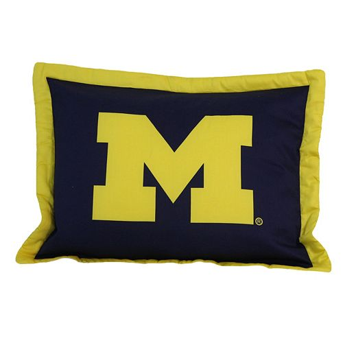 College Covers Michigan Wolverines Printed Pillow Sham