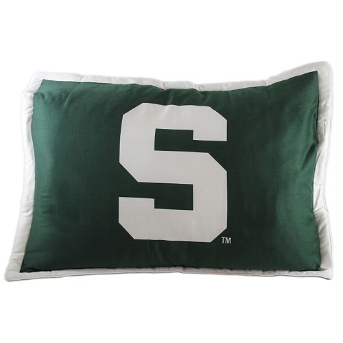 College Covers Michigan State Spartans Printed Pillow Sham
