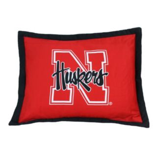 College Covers Nebraska Cornhuskers Printed Pillow Sham