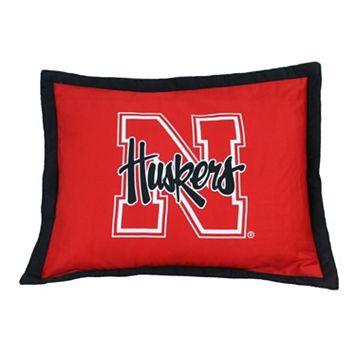 College Covers Nebraska Cornhuskers Printed Pillow Sham