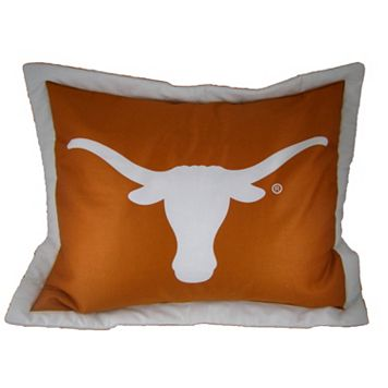 College Covers Texas Longhorns Printed Pillow Sham