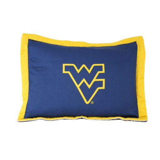 College Covers West Virginia Mountaineers Printed Pillow Sham